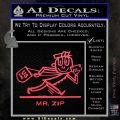 Mr Zip USPS Decal Sticker Post Office Pink Vinyl Emblem 120x120