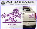 Mr Zip USPS Decal Sticker Post Office Purple Vinyl 120x97