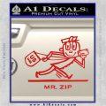 Mr Zip USPS Decal Sticker Post Office Red Vinyl 120x120