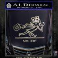 Mr Zip USPS Decal Sticker Post Office Silver Vinyl 120x120