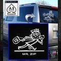 Mr Zip USPS Decal Sticker Post Office White Vinyl Emblem 120x120