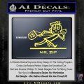 Mr Zip USPS Decal Sticker Post Office Yellow Vinyl 120x120