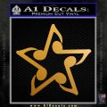Music Note Star Decal Sticker Metallic Gold Vinyl 120x120