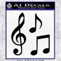 Music Notes D3 Decal Sticker Black Vinyl Logo Emblem 120x120