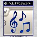 Music Notes D3 Decal Sticker Blue Vinyl 120x120