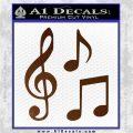 Music Notes D3 Decal Sticker Brown Vinyl 120x120
