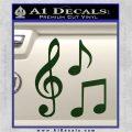 Music Notes D3 Decal Sticker Dark Green Vinyl 120x120