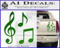 Music Notes D3 Decal Sticker Green Vinyl 120x97