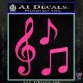 Music Notes D3 Decal Sticker Hot Pink Vinyl 120x120