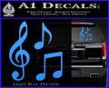 Music Notes D3 Decal Sticker Light Blue Vinyl 120x97