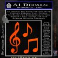 Music Notes D3 Decal Sticker Orange Vinyl Emblem 120x120
