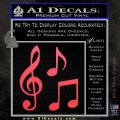 Music Notes D3 Decal Sticker Pink Vinyl Emblem 120x120
