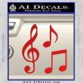 Music Notes D3 Decal Sticker Red Vinyl 120x120