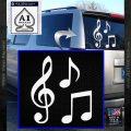Music Notes D3 Decal Sticker White Vinyl Emblem 120x120