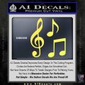 Music Notes D3 Decal Sticker Yellow Vinyl 120x120