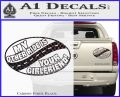 My Other Ride Is Your Girlfriend OV Decal Sticker Carbon Fiber Black 120x97