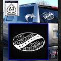 My Other Ride Is Your Girlfriend OV Decal Sticker White Vinyl Emblem 120x120