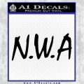 N.W.A. Decal Sticker Dr Dre Black Vinyl Logo Emblem 120x120