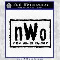 NWO Wrestling Decal Sticker Black Vinyl Logo Emblem 120x120