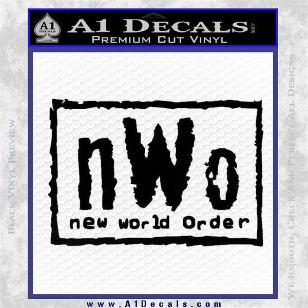 NWO Wrestling Decal Sticker Black Vinyl Logo Emblem