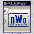 NWO Wrestling Decal Sticker Blue Vinyl 120x120