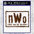 NWO Wrestling Decal Sticker Brown Vinyl 120x120