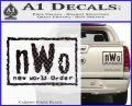 NWO Wrestling Decal Sticker Carbon Fiber Black 120x97