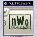 NWO Wrestling Decal Sticker Dark Green Vinyl 120x120