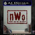 NWO Wrestling Decal Sticker Dark Red Vinyl 120x120