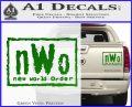 NWO Wrestling Decal Sticker Green Vinyl 120x97