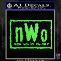 NWO Wrestling Decal Sticker Lime Green Vinyl 120x120