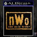 NWO Wrestling Decal Sticker Metallic Gold Vinyl 120x120