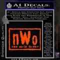 NWO Wrestling Decal Sticker Orange Vinyl Emblem 120x120