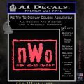 NWO Wrestling Decal Sticker Pink Vinyl Emblem 120x120