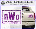 NWO Wrestling Decal Sticker Purple Vinyl 120x97