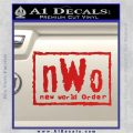 NWO Wrestling Decal Sticker Red Vinyl 120x120