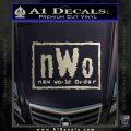 NWO Wrestling Decal Sticker Silver Vinyl 120x120
