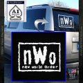 NWO Wrestling Decal Sticker White Vinyl Emblem 120x120