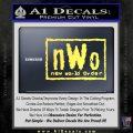 NWO Wrestling Decal Sticker Yellow Vinyl 120x120