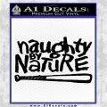 Naughty By Nature Decal Sticker Hip Hop Rap Black Vinyl Logo Emblem 120x120