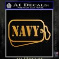 Navy Dog Tags Decal Sticker Metallic Gold Vinyl 120x120