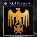 Nazi Eagle Iron Cross DN Decal Sticker Metallic Gold Vinyl 120x120