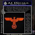 Nazi Eagle Swastika DNS Decal Sticker NSDAP Orange Vinyl Emblem 120x120