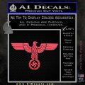 Nazi Eagle Swastika DNS Decal Sticker NSDAP Pink Vinyl Emblem 120x120
