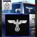 Nazi Eagle Swastika DNS Decal Sticker NSDAP White Vinyl Emblem 120x120