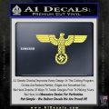 Nazi Eagle Swastika DNS Decal Sticker NSDAP Yellow Vinyl 120x120