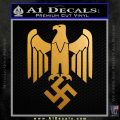 Nazi Eagle Swastika M1 Decal Sticker NSDAP Metallic Gold Vinyl 120x120