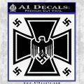 Nazi Iron Cross Swastika Supreme Decal Sticker D2 Black Vinyl Logo Emblem 120x120