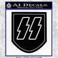 Nazi SS Decal Sticker P1 Decal Sticker Black Vinyl Logo Emblem 120x120