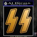 Nazi SS Decal Sticker V2 Metallic Gold Vinyl 120x120